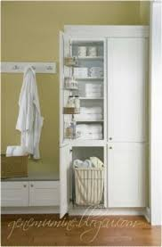 Tall White Linen Cabinet Tall Linen Cabinets For Bathroom Foter