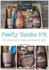 christmas gift baskets family diy family sundae kit gift idea gift basket ideas and