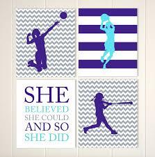 volleyball basketball softball sports art for