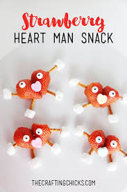 strawberry heart man kid snack the crafting