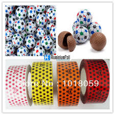 football wrapping paper candy and chocolate aluminum foil wrapping paper for football