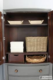 Armoire Changing Table Tv Armoire To Functional Wardrobe Makeover U2013 The Crowned Goat