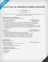 analytical chemist cv examples please help chromatography forum