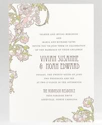 art nouveau garden wedding invitations u2026 which one weddingbee