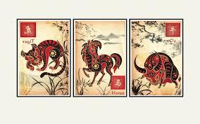 Asian Wall Decor Chinese Zodiac Ox Asian Wall Art Astrology Art Print Childrens