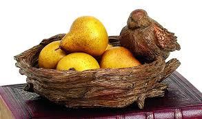 decorative fruit bowl expodecorllc bird nest decorative bowl u0026 reviews wayfair
