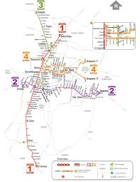 Map Mexico City by Mexico City Metrobus Maplets