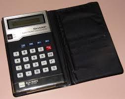 vintage sharp elsimate electronic pocket calculator model el 8133