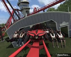Six Flags Zoo Newsparcs X Flight A Bolliger U0026 Mabillard Wing Coaster Coming