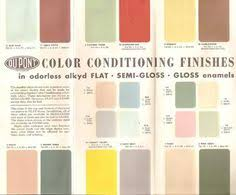 1950 sears paint chip card 1950s pinterest paint chips
