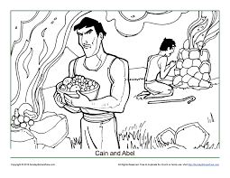 cain and abel coloring page cain and abel sacrifice to god