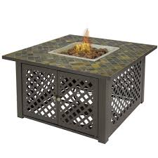 Table Patio Heaters by Gas Outdoor Fire Pit Table Firebowl W Cover Slate Marble Garden