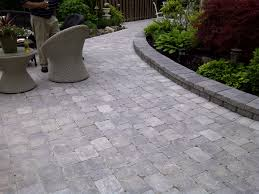 Interlocking Slate Patio Tiles by Interlocking Stone Patio Using Brussels Block Unilock Stone V U0026f