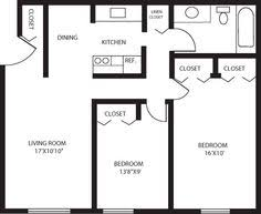 Two Bedroom Apartments Floor Plans 500 Sq Ft Studio Apartment One Bedroom 550 Sq Ft Two Bedroom 750