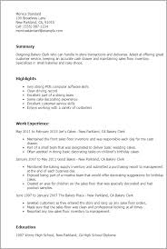 Supply Resume Examples by Professional Bakery Clerk Templates To Showcase Your Talent