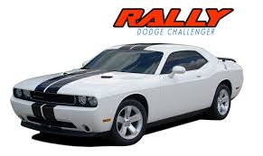 Dodge Challenger 2012 - dodge challenger racing stripes vinyl graphics decals rally 2011