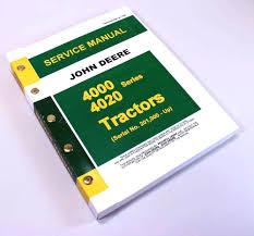 john deere 4020 4000 tractor technical manual tm 1006 service