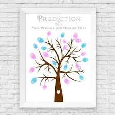 baby shower tree a4 personalised baby shower finger print tree prediction cards