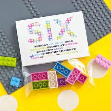 building bricks girls birthday party printable invitation