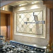 Kitchen Medallion Backsplash Tile Medallions For Backsplash Kitchen Using Floral Tile Scrolls