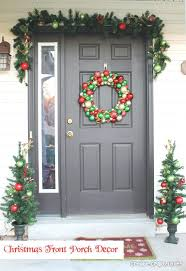 Christmas Decorations For Outside Front Door by Front Doors Front Door Ideas Holiday Front Door Wreaths