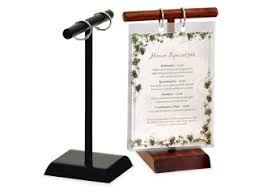 menu stands restaurant table tents table stands and card