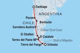 Bariloche Argentina Map Ushuaia To Santiago Argentina Tours Intrepid Travel Au