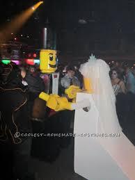 Halloween Costumes Bride Groom Homemade Lego Bride Groom Couple Halloween Costume