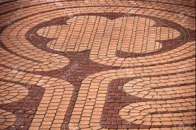 floral patterned brick outdoor flooring stock photo picture and