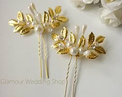 gold hair accessories gold hair pin etsy