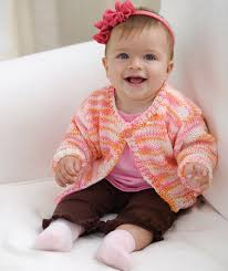 Easy Knit Baby To Toddler Cardi Red Heart