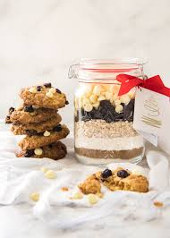 gift cookies cookie mix in a jar white chocolate cranberry cookies recipetin