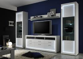 iluminati iv large gloss tv set with led lights wall units