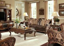 traditional sofas with wood trim leather furniture with wood trim old world living room furniture
