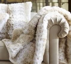 Real Fur Blankets How To Keep A White Sofa White Over The Holidays Maria Killam
