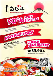 discount cuisine tao buffet promotion enjoy discount up to 50 freebies land malaysia