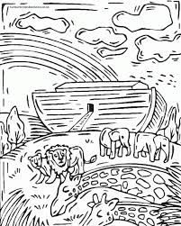 Coloring Noah S Ark Coloring Pages For Preschoolers With Noah S Coloring Book Page