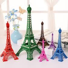 Eiffel Tower Garden Decor New Fashion Bronze Tone Alloy Paris Eiffel Tower Figurine Statue