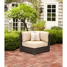 Patio Furniture Covers South Africa Brown Jordan Northshore Patio Corner Sectional Chair In Harvest