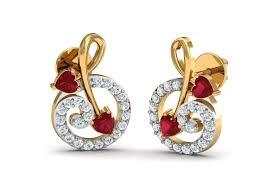 diamond ear rings images Buy gia tourmaline diamond earrings in gold endear jewellery jpg