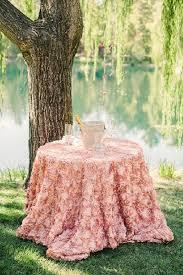 pink rosette table runner blush new 132 round rosette cake overlay table runner shower event