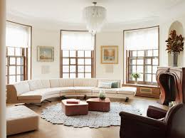 Design Ideas For Half Circle Rugs Modern And Sophisticated Large Circular Sectional Sofa In Broken