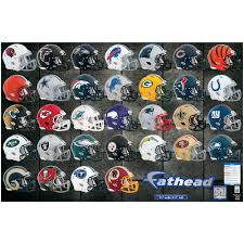 fathead 132 in h x 108 in w nfl helmet collection wall mural 11 fathead 132 in h x 108 in w nfl helmet collection wall mural