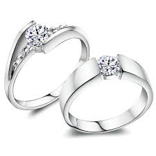 engagement rings for couples promise rings for couples 925 sterling silver personalized