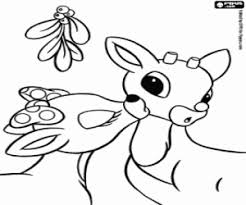 rudolph red nosed reindeer coloring pages printable games