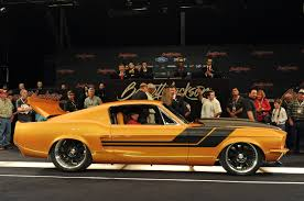 1967 Mustang Fastback Black Barrett Jackson 2013 Custom 1967 Ford Mustang Fastback Sells For