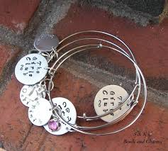 personalized picture charms adjustable bangle bracelet with personalized charm alex and ani