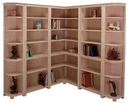 Redford White Corner Bookcase by Corner Bookshelf Home