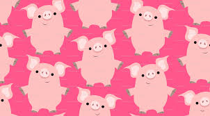 cute friendly cartoon pigs cheerful madness wallpaper