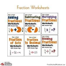 fraction worksheets mega bundle printables u0026 worksheets